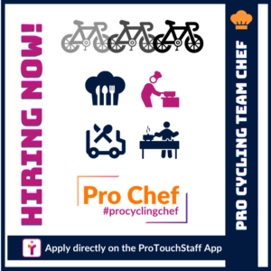 Hiring Now Pro Cycling Team Chef